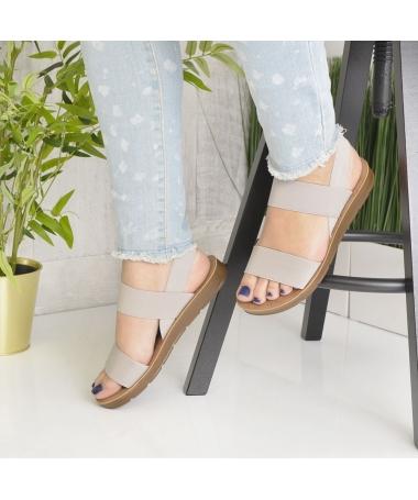 Sandale De Dama Sore Gri - Trendmall.ro