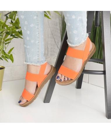 Sandale De Dama Sore Portocaliu - Trendmall.ro
