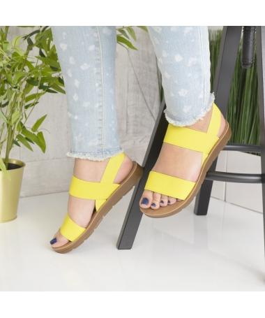 Sandale De Dama Sore Galbene - Trendmall.ro