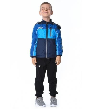 Geaca De Copii Mario Albastra - Trendmall.ro