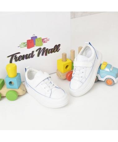 Pantofi Sport De Copii Cami Alb Cu Albastru - Trendmall.ro