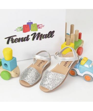 Sandale De Copii Julien Argintii - Trendmall.ro