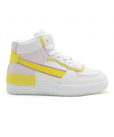 Pantofi Sport De Dama Atar 2 Roz Cu Galben - Trendmall.ro