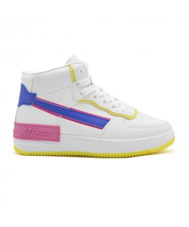 Pantofi Sport De Dama Atar 2 Alb Cu Albastru - Trendmall.ro