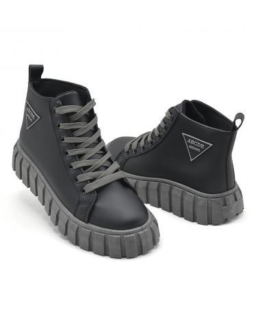 Pantofi Sport De Dama ABCDE Negru Cu Gri - Trendmall.ro