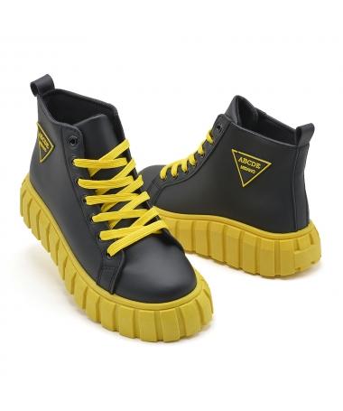 Pantofi Sport De Dama ABCDE Negru Cu Galben - Trendmall.ro
