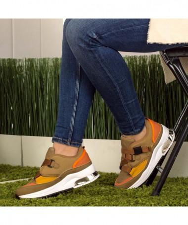Pantofi Sport De Dama Rameli Khaki - Trendmall.ro