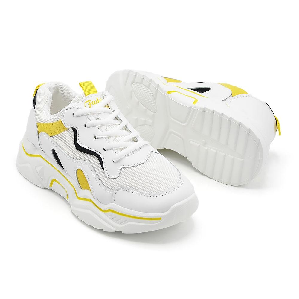 Pantofi De Dama X680 Alb Cu Galben - Trendmall.ro