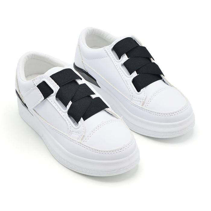 Pantofi Sport De Copii 503-7 Alb Cu Negru - Trendmall.ro