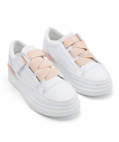 Pantofi Sport De Copii 503-7 Alb Cu Roz - Trendmall.ro