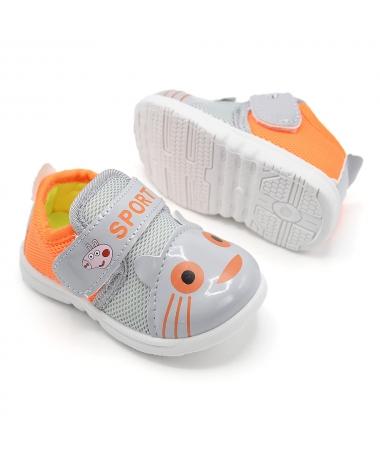 Pantofi Sport De Copii Peppa Pig Gri Cu Portocaliu - Trendmall.ro