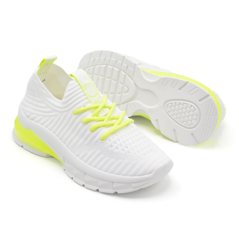 Pantofi Sport De Dama Alb Cu Verde X-2903 - Trendmall.ro