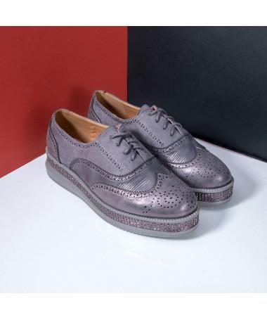 Pantofi De Dama Mauni Gri - Trendmall.ro