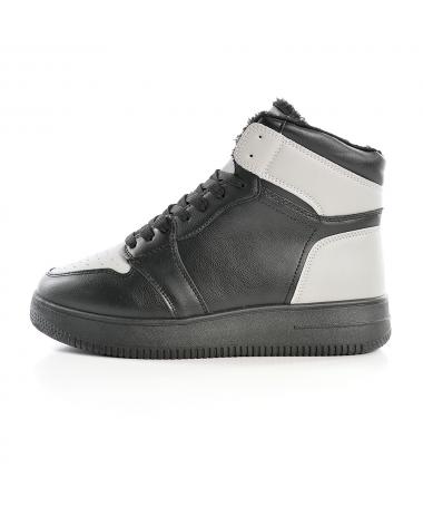 Pantofi Sport Imblaniti De Barbati J1861 Negru Cu Gri - Trendmall.ro