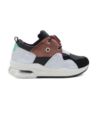 Pantofi Sport De Dama Ivoli Negru Cu Argintiu - Trendmall.ro