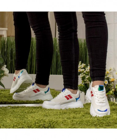 Pantofi Sport De Dama Remina Albi - Trendmall.ro