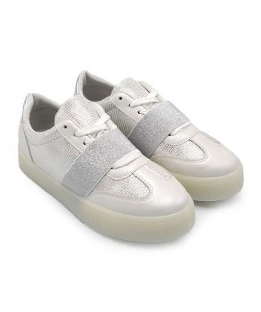Pantofi Sport De Dama Mirima Albi - Trendmall.ro
