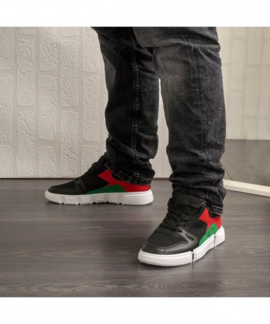 Pantofi Sport De Barbati Darivo Negru Cu Rosu - Trendmall.ro