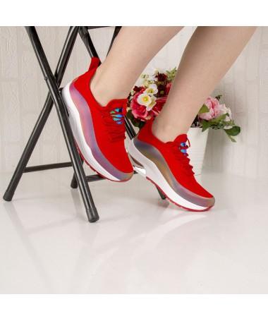 Pantofi Sport De Dama Marvi Rosii - Trendmall.ro