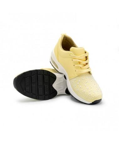 Pantofi Sport Airfill De Dama Galbeni - Trendmall.ro