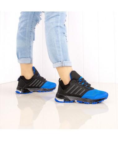 Pantofi Sport De Dama Fonda Negru Cu Albastru - Trendmall.ro
