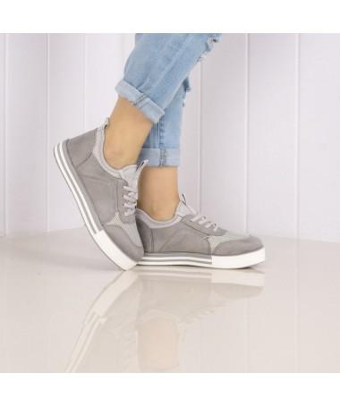 Pantofi Sport De Dama Larena Gri - Trendmall.ro