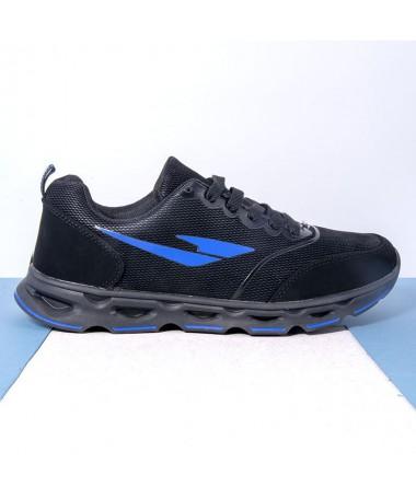 Pantofi Sport De Barbati Matius Negru Cu Albastru - Trendmall.ro