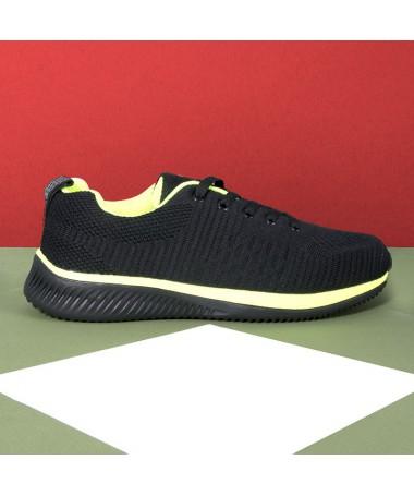 Pantofi Sport De Barbati Nestor Negru Cu Verde - Trendmall.ro