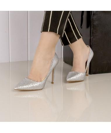 Pantofi De Dama Carisa Arginti - Trendmall.ro