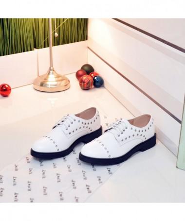 Pantofi De Dama Mira Albi - Trendmall.ro