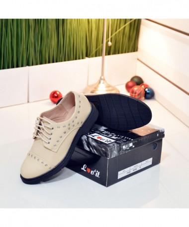 Pantofi De Dama Mira Bej - Trendmall.ro