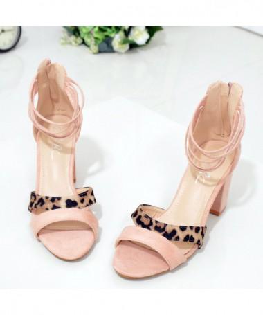 Sandale Cu Toc De Dama Esrela Roz - Trendmall.ro