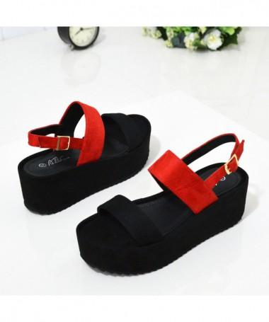 Sandale Cu Platforma De Dama Tapa Red - Trendmall.ro