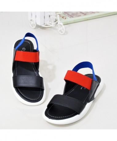 Sandale Cu Talpa Joasa De Dama Ava Negre - Trendmall.ro