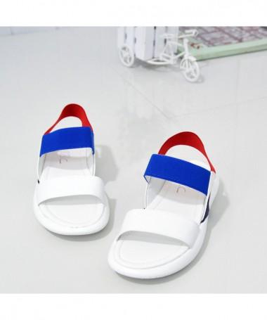 Sandale Cu Talpa Joasa De Dama Ava Albe - Trendmall.ro