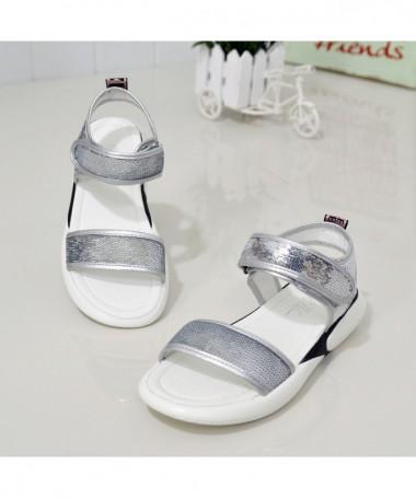 Sandale Cu Talpa Joasa De Dama Avastro Argintii - Trendmall.ro