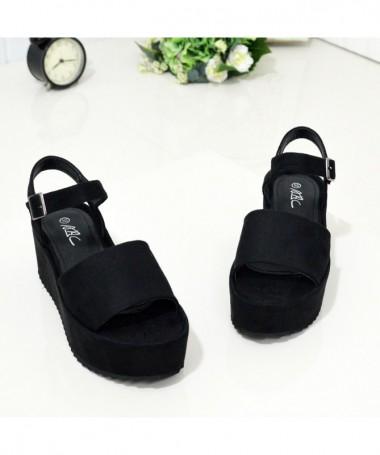 Sandale Cu Platforma De Dama Arans Negre - Trendmall.ro