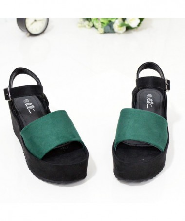 Sandale Cu Platforma De Dama Arans Verzi - Trendmall.ro