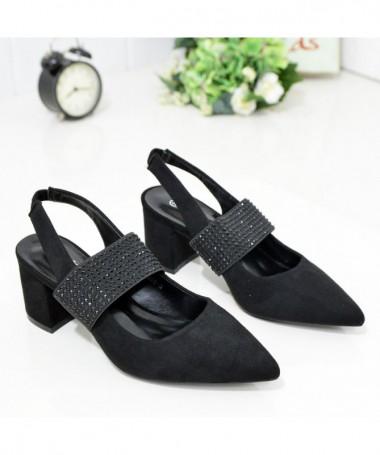 Sandale Cu Toc De Dama Asku Negre - Trendmall.ro