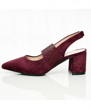 Sandale Cu Toc De Dama Asku Visinii - Trendmall.ro