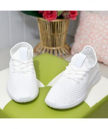 Pantofi Sport De Dama Pump Albi - Trendmall.ro
