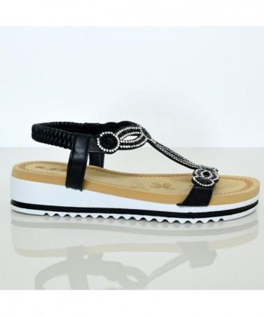 Sandale Cu Talpa Joasa De Dama Coor Negre - Trendmall.ro