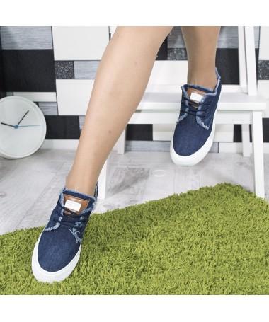 Tenisi Cosia Jeans De Dama Albastri - Trendmall.ro