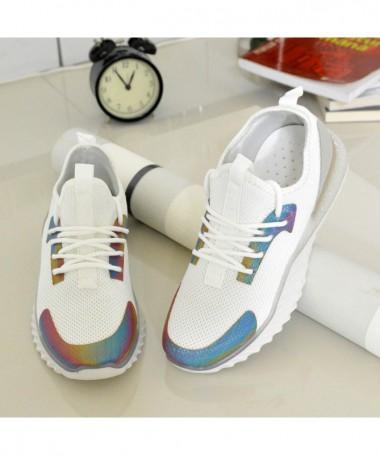 Pantofi Sport De Dama Multi Albi - Trendmall.ro