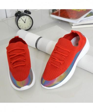 Pantofi Sport De Dama Fun Color Rosii - Trendmall.ro