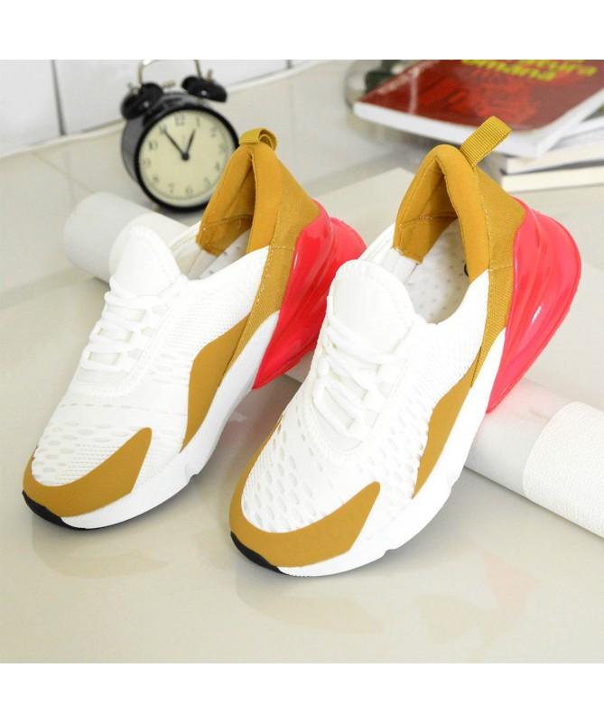 Pantofi Sport De Dama Jamba Alb Cu Auriu - Trendmall.ro