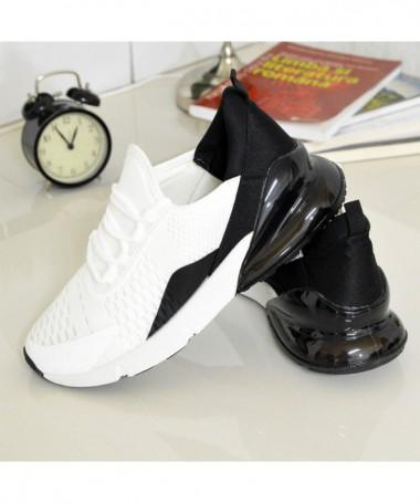 Pantofi Sport De Barbati Jamba Alb Cu Negru - Trendmall.ro