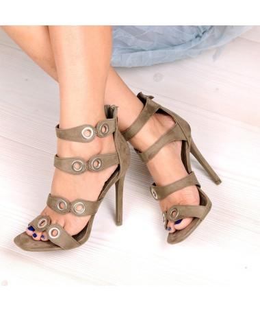 Sandale De Dama Cu Toc Point Verzi - Trendmall.ro