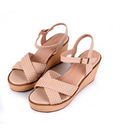 Sandale Cu Platforma De Dama Viko Bej - Trendmall.ro