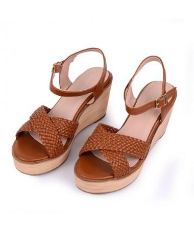 Sandale Cu Platforma De Dama Viko Camel - Trendmall.ro